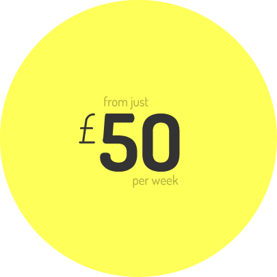 from just £50 per week